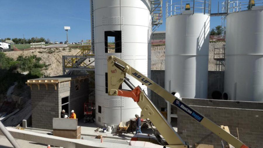 lime slurry silos