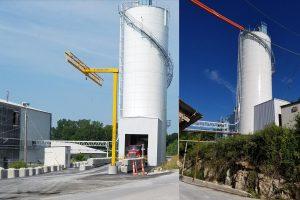 drive through storage silos