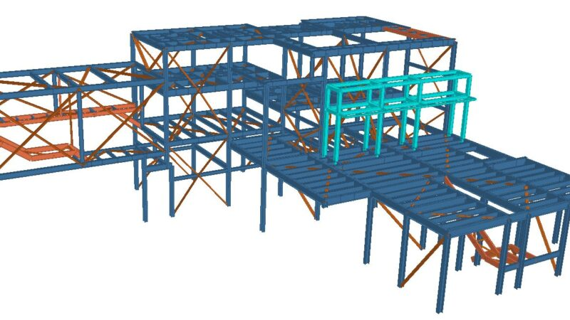 Pict 4 – mixers support struc -3d extruded view