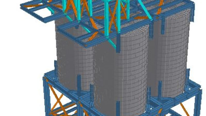 Pict 5 – silo support struc -3d rendered